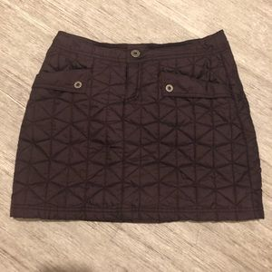 The north face quilted insulated skirt maroon